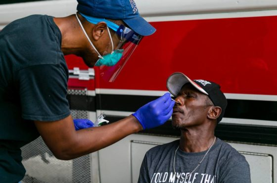 Miami doctor tests homeless for coronavirus while volunteers deliver food, clothes